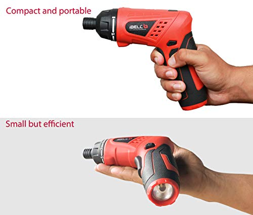 iBELL MS06-16 Cordless Rechargeable Electric Screwdriver 3.6V, 1500mAh Lithium Ion Battery MAX Torque 3.5Nm, 2 Flexible Position and 16 Torque Setting, Front LED and Rear Flashlight- 6 Months Warranty 5