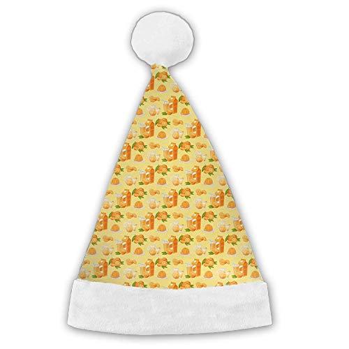 GYJYUKK Merry Christmas Annoying Orange Juice Cute Baby Santa Hat Holiday Theme Caps