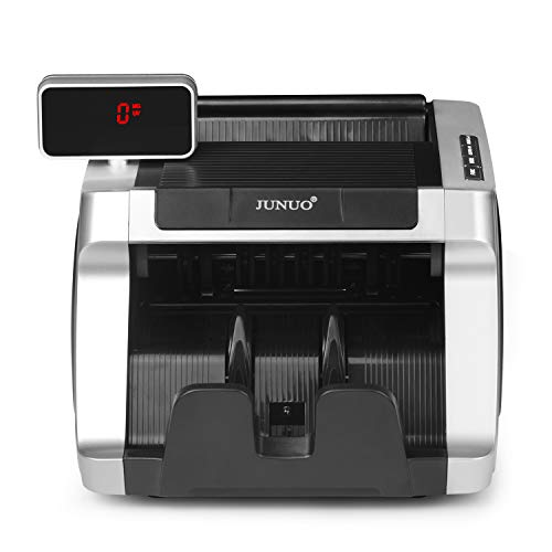 Money Counter with UV, Magnetic and Infrared Counterfeit Detection, Bill Counting Machine with Higher speeds, 1000 Bills Per Minute, Professional Cash Counting Machine and 1 Year Warranty by JUNUO (Image #1)