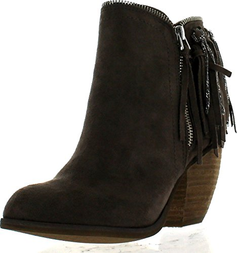 Not Rated Women's Flippin Fringe Boot, Taupe, 8.5 M US