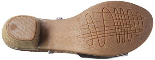 Jonny's 2468-17, Sandalias de Punta Descubierta Mujer Gris (NEGRO / CLOUD)