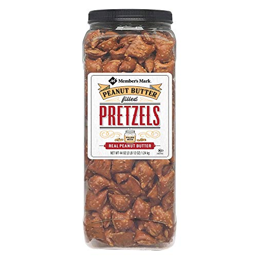Members Mark Peanut Butter Filled Pretzels - Set of 2 X 44oz Jars - Party/Family Size
