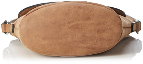 GERRY WEBER Braided Ii Shoulderbag Svf - Bolso de hombro Mujer Marrón (Cognac)