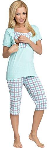 Be Mammy Mujer Lactancia Pijamas Dos Piezas Urlike Menta