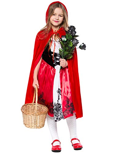 Amiliashp Girls' Little Red Riding Hood Costumes Kids