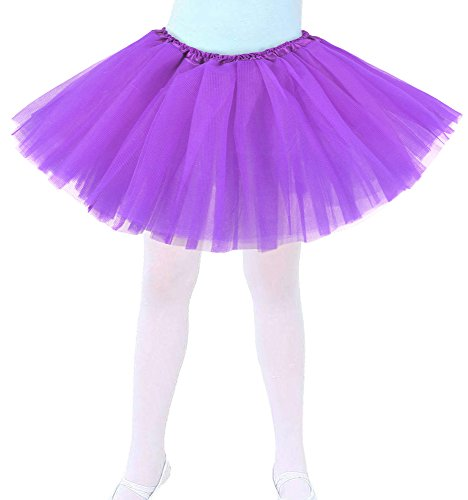 Tutus-for-Girls-Childrens-4-Layered-Tulle-Princess-Ballerina-Dance-Skirt-Purple