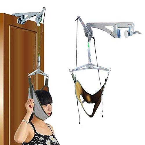 Machine Neck (Neck Cervical Traction Unit Kit Over Door Home Device Neck Spinal Decompression Orthopedic Physical Therapy Overhead Traction Machine Set Pain Relief)
