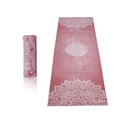 YOGA DESIGN LAB | The HOT Yoga Towel | Premium Non Slip Colorful Towel | Designed in Bali | Eco Printed + Quick Dry + Mat Sized | Ideal for Hot Yoga, Bikram, Ashtanga, Sport, Travel! (Mandala Ginger)