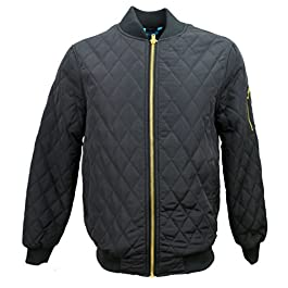 Henry & William Men's Quilted Bomber Jacket