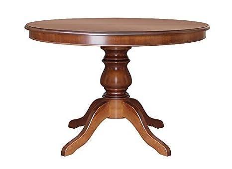 Tavolo Rotondo In Noce Allungabile.Artigiani Veneti Riuniti Tavolo Rotondo 100 Cm Allungabile Amazon