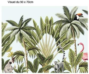 Sticker Cr/édence Dimensions 60 cm x 70 cm Feuillages