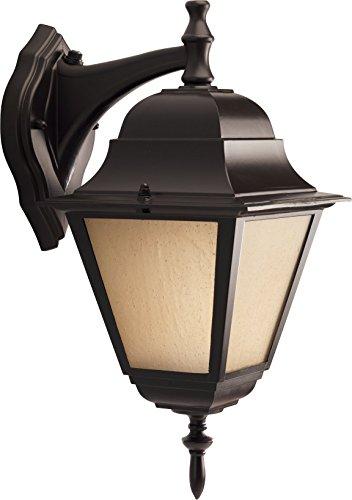 HomeStyle HS77007-125 One Light CFL Medium Wall Lantern-Down/Die Cast in Bronze