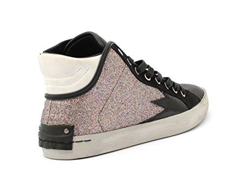 Sneaker CRIME BLACK / GLITTER ROSA 25023A17.68 Taglia 40 - Colore ROSA