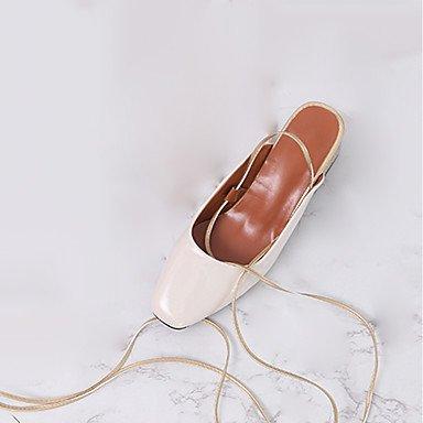 RTRY Zapatillas De Mujer &Amp; Flip-Flops Verano Confort Casual Pu Chunky Heelblack Caminar Blanco US6.5-7 / EU37 / UK4.5-5 / CN37