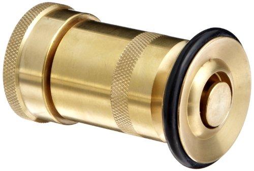 Moon 520-1021 Brass Fire Hose Nozzle, Heavy Duty Industrial Fog, 36 gpm, 1