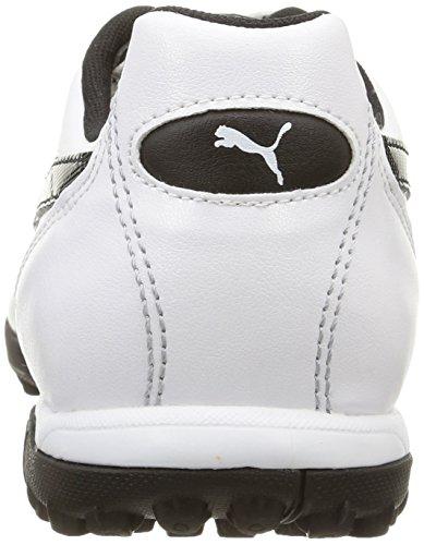 Puma Resultado Clásico Tt Zapatos de Fútbol Para Hombre Bianco (White/Black)