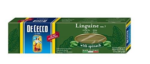 De Cecco Pasta, Linguine with Spinach, 12 Ounce (Pack of 12) (Linguini Pasta compare prices)