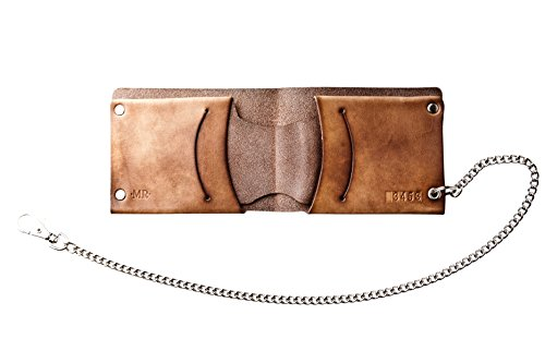 Mr Lentz Western With Brown Wallet Leather Men's Chain Handcrafted Personalized Traditional rrdw4ZUqx
