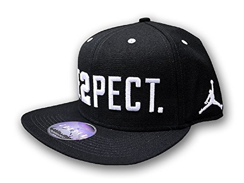 JORDAN ''RE2PECT'' ADJUSTABLE HAT JETER BLK/WHT ONE SIZE FITS MOST by NIKE