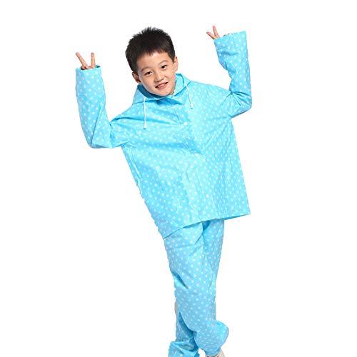 bleu M YANGYONGLI Ponchos Pluie Enfant Garçon Fille Costume voituretoon Split Imperméable LÂche Deux Pièces Ensemble