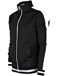 c88dc3a2dc Screenshotbrand Mens Hip Hop Premium Slim Track Jacket - Side Taping