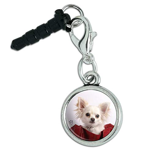 - Chihuahua Puppy Dog in Handbag Mobile Cell Phone Headphone Jack Anti-Dust Charm fits iPhone iPod Galaxy