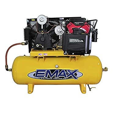 Emax EGES24120T 24 HP Gas Air Compressor, 120-Gallon, Horizontal, Electric Start, Industrial Plus Series