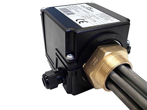 Heizpatrone unisoliert 9,0 kW f/ür Pufferspeicher mit Thermostat