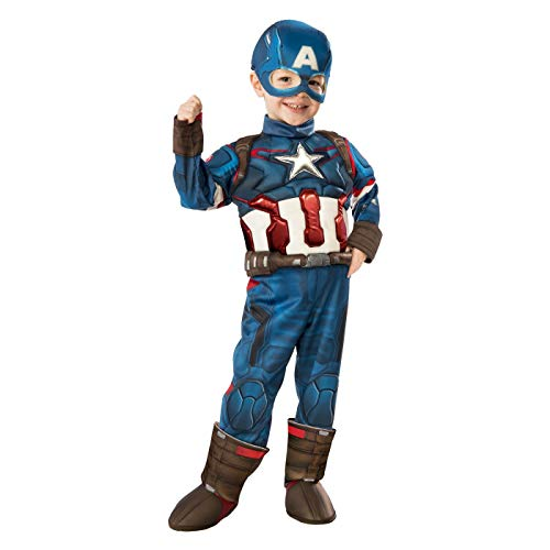 Captain America Child Costume - Toddler Large -