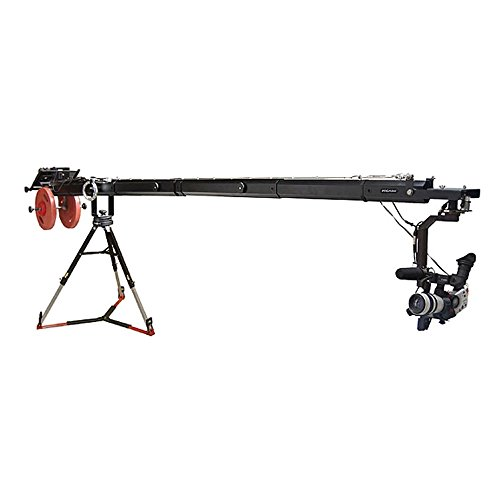 Proaim KITE-22 POPULAR Package (Proaim 22ft Telescopic Camera Jib Crane with Senior Pan-Tilt Head 150mm Bowl Tripod Stand (LW-150) and D-33 Pro Dolly)