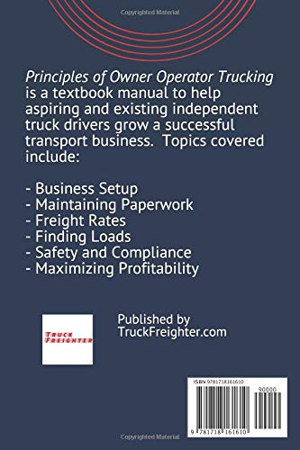 Principles of Owner Operator Trucking: Business Manual on