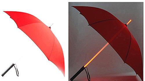 Amazon.com : Dearilin Economic LED luminous umbrella stick luminous umbrella new fashion umbrella luminous umbrella flashlight umbrella Pink 23 inch 8K ...