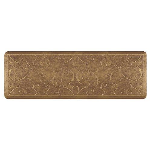 WellnessMats Estates Collection Essential Series Burnished Copper Bella 6 x 2 Foot Anti-Fatigue Mat by WellnessMats
