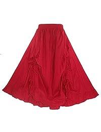 Beautybatik Cotton Boho Gypsy Long Maxi Victorian Skirt Plus Size 1X 2X