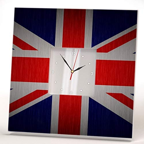 - Union Jack United Kingdom Flag Wall Clock Mirror Great Britain Fan Art Home Decor Print Design Gift
