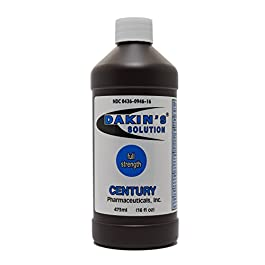 Century Pharmaceuticals Dakin's Solution-Full Strength 304360946160 Sodium Hypochlorite 0.5% Wound Therapy for Acute and Chronic Wounds