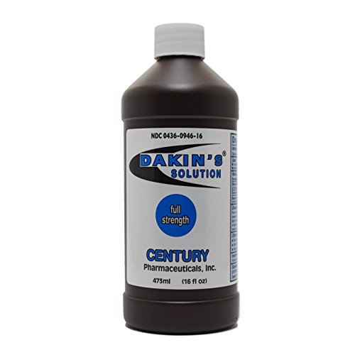 Dakin's Solution-Full Strength 304360946160 Sodium Hypochlorite 0.5% Wound Therapy for Acute and Chronic Wounds by Century Pharmaceuticals
