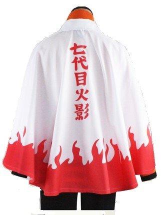 Naruto 7 Hokage Cape cloak Costume White Total Length 79 cm