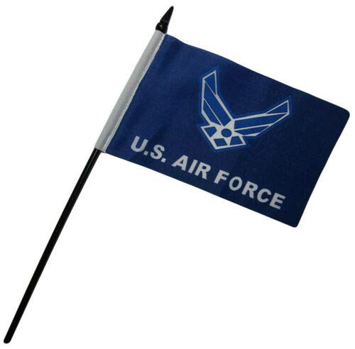 - Ant Enterprise Pack of 12 (Dozen) U.S. Air Force Wings Blue Military Service Miniature Desk & Table Flags Includes 12 Polyester Small Mini Military Stick Flags (4