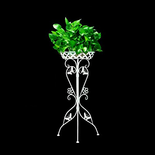 HZB European Balcony Flower Rack, Iron Art Room, Indoor Green Lace Flower Shelf. (Color : (Green Funeral Plant)