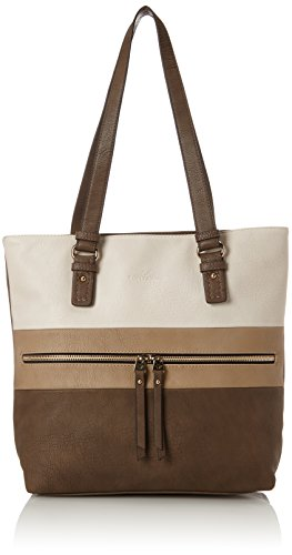 Tom Tailor Acc Marit - Bolsos totes Mujer Beige (Taupe)