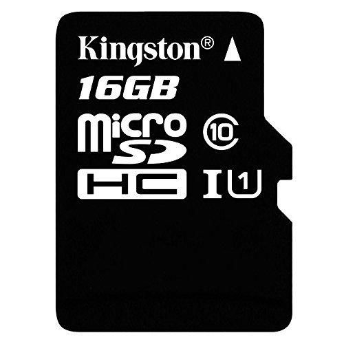 Professional Kingston 16GB BlackBerry KeyOne MicroSDHC Card with custom formatting and Standard SD Adapter! (Class 10, UHS-I)