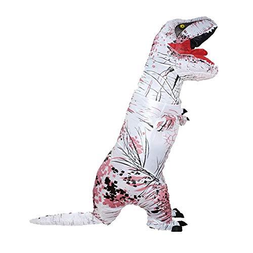 KNOSSOS Costume Animale Gonfiabile Diverdeente di Cosplay del Partito del Dinosauro per Il Bambino Adulto -160-200CM Bianco
