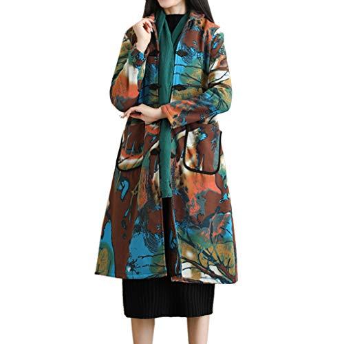 HHmei Down Alternative Outerwear Coats | Women Folk-Custom Print Velvet Cotton Outwear Warm Long Thick Coat Jacket Parka/Down Collar Autumn Faux Sleeve Jackets tan Hooded Lined Zippered asymme