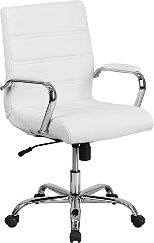 Kenwood LE Mid-Back Leather Executive Swivel Office Chair with Chrome Base and Arms by Kenwood Furnishings (Image #5)