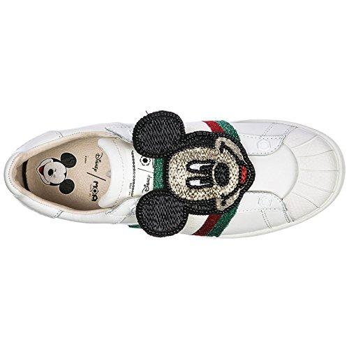 Deporte de Mujer Blanco Piel en Zapatos Arts of Zapatillas Master Moa aXnxYwf0q0