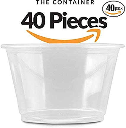 Amazon.com: 4oz contenedores para DIY Slime | 40 Pack de 113 ...