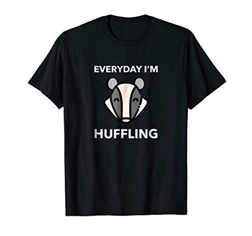 Everyday I'm Huffling Badger T Shirt - Funny Cute Animal (Honey Badger Adult Costumes)