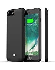 Battery Case for iPhone 7 Plus/8 Plus,Support Headphone,Ugood 4200mAh Ultra Slim Portable Protective Charging Case Compatible with iPhone 8 Plus/7 Plus Rechargeable Extended Battery Charger Case-Black
