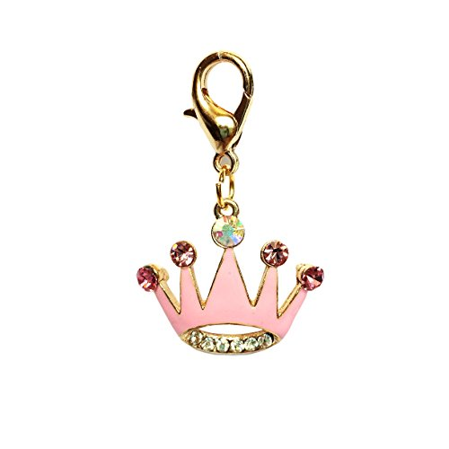The Dog Squad Clip-On Collar Charms, Princess Crown ()